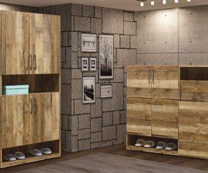 761-4雀巢2.7×6尺厚切木紋高鞋櫃